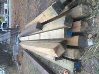 Pressure Treated lumber 4x4, 8 footers ONLY 4 LEFT