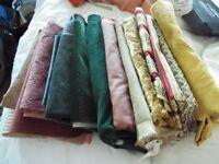assorted fabrics heavy weight
