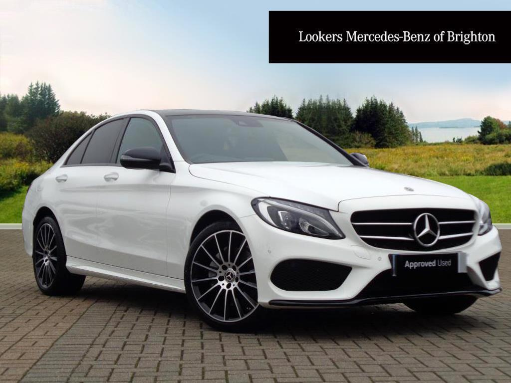 mercedes benz c class c 200 4matic amg line premium plus white 2017 12 23 in portslade east. Black Bedroom Furniture Sets. Home Design Ideas