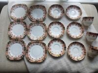 Vintage St Michael tea plates, saucers and cups