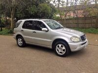 MERCEDES ML 270 CDI AUTOMATIC 7 SEATS SERVICE HISTORY FULL LEATHER FACE LEFT