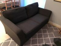 Dark Grey Fabric Sofa Bed