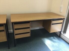 Two good condition office desks with built in drawers £20 each