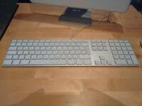 Apple Aluminium USB Keyboard A1243 & Pro USB Mouse M5769