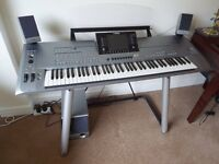 Yamaha Tyros 5 - 78 key with subwoofer, delux stand and cover