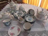 Tea Party Crockery - teapots, cups, saucers, plates, milk jugs, sugar bowl