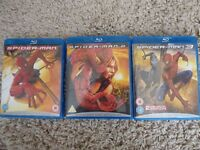 Spiderman 1,2 3 Blu Ray