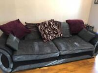 Dfs 4 seater sofa puffy and chair