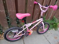 Girl's Bike Apollo Roxie 16 inch in excellent condition, only used a few times