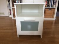 WHITE IKEA BEDSIDE TABLE