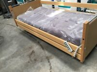 Nursing Care Bed/Disability Elderly Electric Hospital Bed/New Mattress/Side Rails & Overbed Table