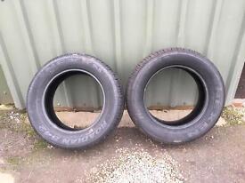 Pair of Nexen Roadian tyres