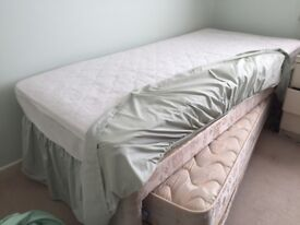 """3ft divan with 2'6"""" bed under used twice £50 07814942304 phone to collect bedding also if wanted"""