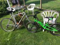 mans and child bike