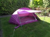Small light weight tent with zipped inner.