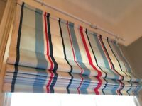 Matching Roman Blind and Ceiling Lampshade.. great for boys room.