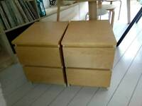 Pair Ikea Bedside Tables