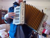 vintage accordion, made in Germany, for repair
