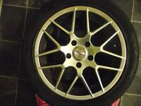 "17"" TEAM DYNAMIC ALLOYS AND TYRES"