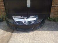 vauxhall corsa d front bumper in black