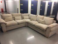 Large Cream Corner Sofa! Good Condition! Free Delivery!