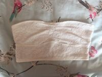 White Lace Gilly Hicks (Hollister) Bandeau- Large