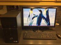 "Windows 7 Home Premium 1 TB FUJITSU Desk Top Computer w/ 24"" ASUS HD Monitor. Less than a year old!!"