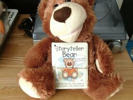 Story telling bear with book