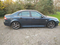 saab 9-3 19tid vector sport 11 mounths mot 150bhp 55 reg in blue with half leather sport tow bar