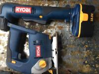 Ryboi side winder drill, hoover and jigsaw
