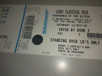 Lush Classical Tickets for Sale 2 no Standing