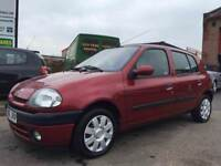 2001 RENAULT CLIO ALIZE 5 DOOR 75K MILES **SERVICE HISTORY** MAY 30TH MOT *RECORDED CAMBELT CHANGE*
