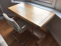 John Lewis Solid Oak Desk and John Lewis Chair