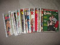 Vintage 'The Ring' Boxing Magazines x 18