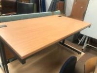 1400mm x 800mm Straight Beech Office Desk
