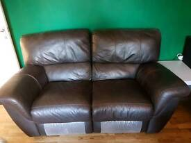 2 & 3 seat leather sofas for sale