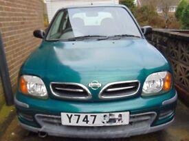 NISSAN MICRA S AUTO 2001 Y PETROL CAR 3 DOOR HATCHBACK IDEAL FOR NEW DRIVER MOT: 16/02/18 MILE:49750