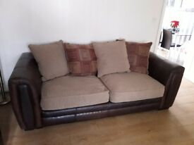 Can deliver 2 sofas not matching 3+2
