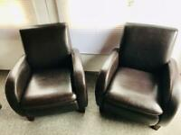 2 x armchairs as new