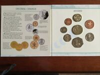 1996 United Kingdom Brilliant uncirculated coin collection, contained in a presentation folder.