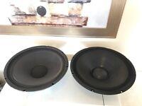 """2x 15"""" Main drivers/Speakers (Kef & QTX)"""