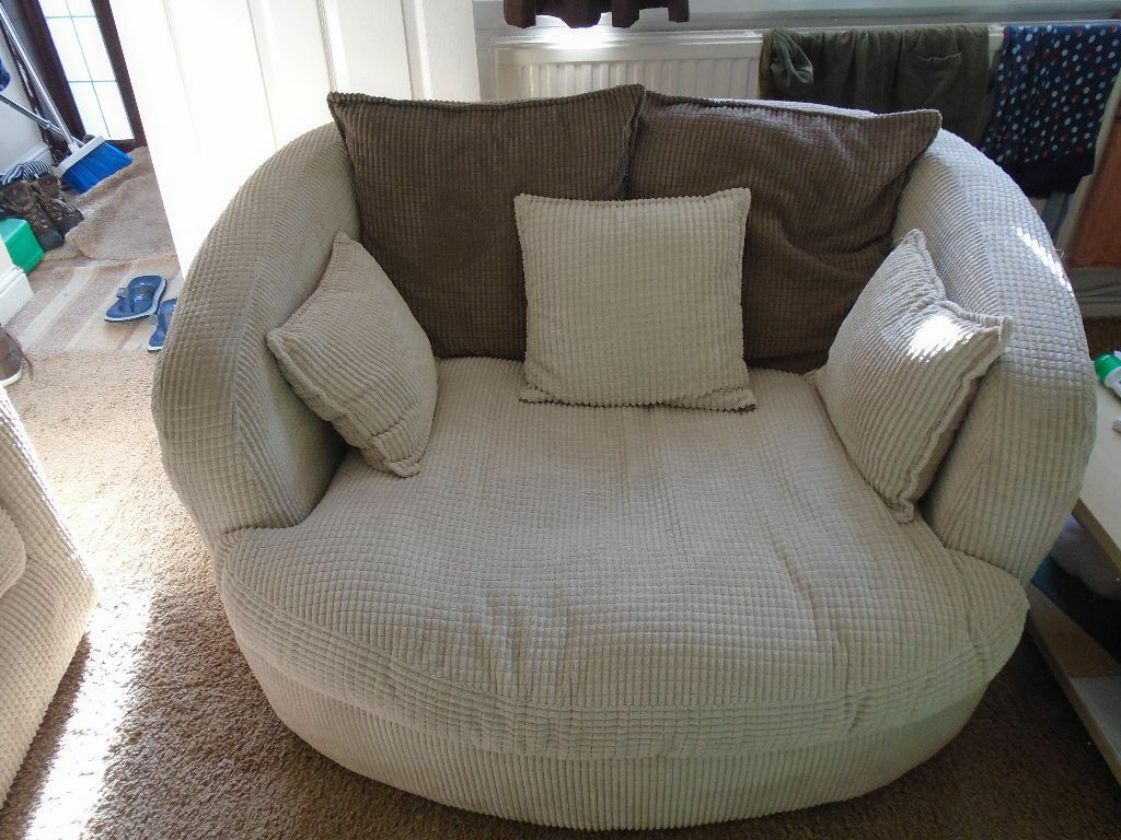 Scs Cord Swivel Cuddle Chair For Sale In Llangennech