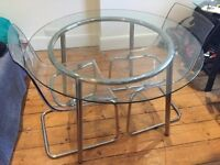 Glass dining table for sale- Ikea Salmi table