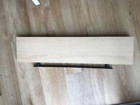 Wooden oak effect floating shelf