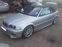 2001 BMW 330i E46 M Sport Cabrio Convertible M54B30 Automatic BREAKING FOR PARTS SPARES