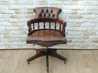 Vintage Brown Captains Chair (Delivery)