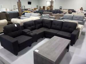 CLEAVON Reversible Sectional Sofa $799!! Two colors available