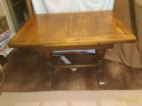 Extendable dining table + 4 chairs 1950s