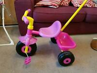 GIRLS PINK TRICYCLE SMART TRIKE