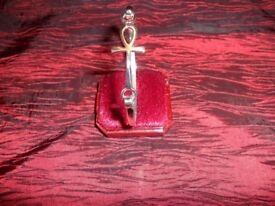100% Pure 925 Sterling Silver Jewellery Cross Bracelet Bangle Gift 5MM 11Gr